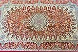 玄関マット 室内 屋内 ペルシャ絨毯 竹素材 レーヨン100% 約75X120cm 100万ノット windsor75120 (レッド)