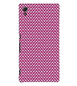 Pink Chevron Glow 3D Hard Polycarbonate Designer Back Case Cover for Sony Xperia Z3+ :: Sony Xperia Z3 Plus