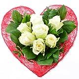 Blumenversand - Blumenstrauß zum Geburtstag - Liebe in rot-weiß -