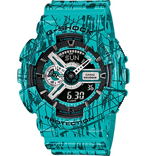 Casio G-Shock GA-110 Slash Pattern Designer Watch - Turquoise / One Size