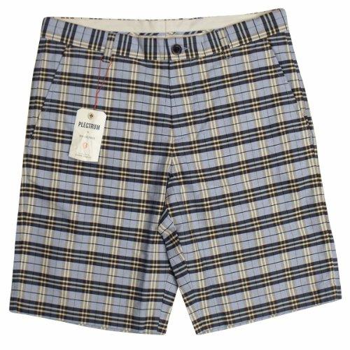 Mens Ben Sherman Plectrum Mod Gingham Check Smart Shorts Tailored Short Waist 28