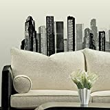 Roommates Cityscape Peel And Stick Giant Wall Decal, Multi Color