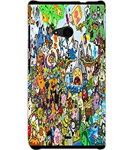 MICROSOFT LUMIA 535 CARTOONS Back Cover by PRINTSWAG