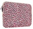 PLEMO Leoparden-Spots Canvas-Gewebe H�lle Sleeve Tasche f�r 27,9-29,5 cm (11-11,6 Zoll) Netbook / Laptop / Notebook Computer / MacBook / MacBook Air, Rosa