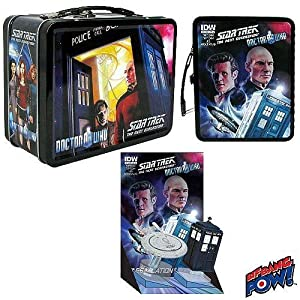 Doctor Who / Star Trek The Next Generation Exclusive Monitor Mates Tin Tote Set New!