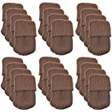 BCP 24pcs Knitting Wool Furniture Socks/ Chair Leg Floor Protector (Brown Color)