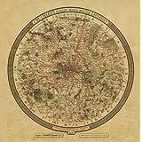 Twelve Miles Around London 1826 Map, Large