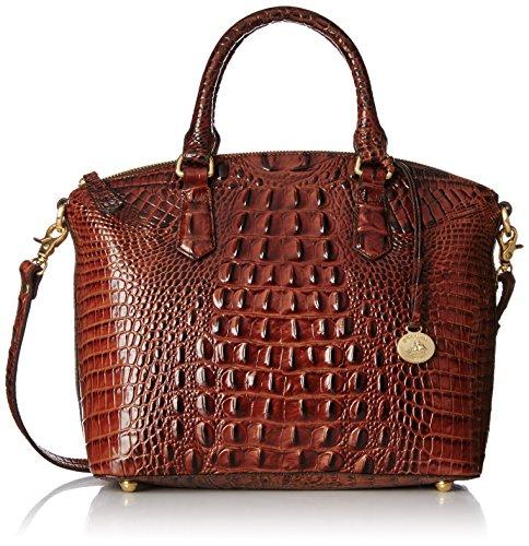 Brahmin Duxbury Satchel Convertible Top Handle Bag Pecan