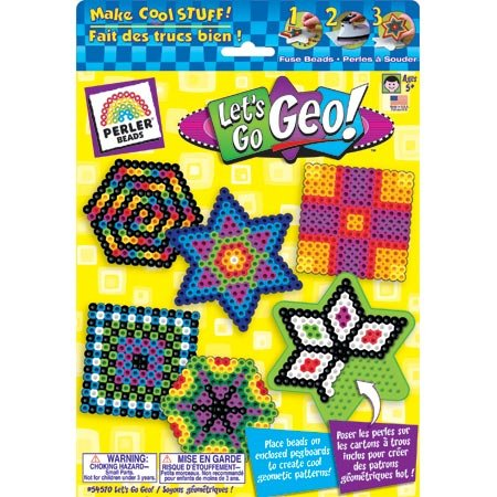 Perler Gift Box Fuse Bead Activity Kit-Let's Go Geo