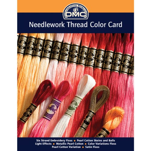 DMC COLORCRD Needlework Threads 12-Page Printed Color Card