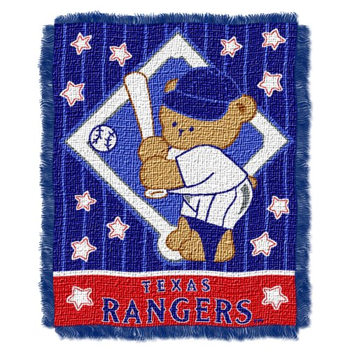 Mlb Texas Rangers 36-Inch-By-46-Inch Woven Jacquard Baby Throw front-849251