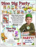 ScrapSMART - Dino Dig Party Kit - Jpeg, PDF, and Microsoft Word Files (CDDDP166)