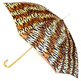 """Tiger"" Animal Print Full Size Stick Art Umbrella with Automatic Push Button Opening, Great Gift Idea ~ Animal Print Umbrellas"