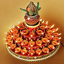 Diwali Gifts -45 diyas Tray