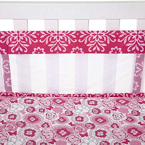 Butterfly Bouquet Secure-Me Mesh Crib Liner - 1