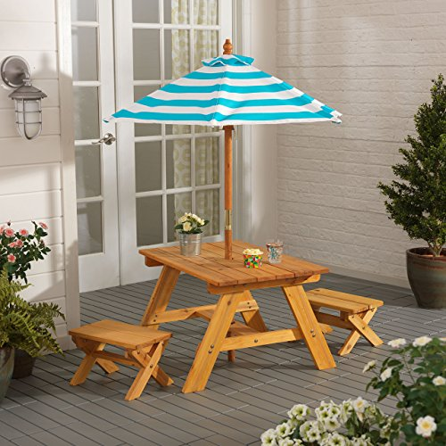Outdoor Table w/ Benches & Umbrella (Outdoor Kid Furniture compare prices)