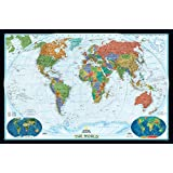 AllPosters, 'National Geographic World Political Map, Decorator Style Giant Poster', Giant Poster (Paper, 122...