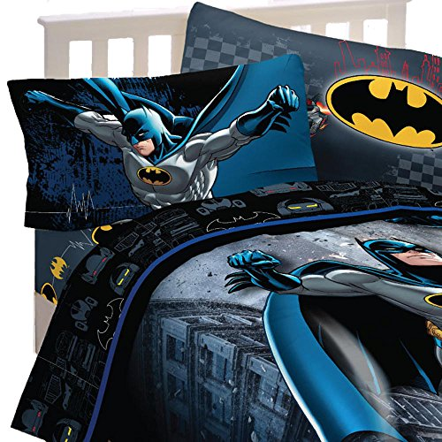 3pc DC Comics Batman Twin Bed Sheet Set Guardian Speed Bedding Accessories