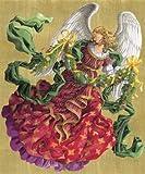 Caspari Advent Calendar Card, Victorian Angel