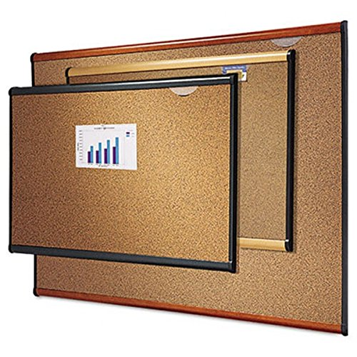 Quartet Prestige Colored Cork Bulletin Boards, 4 x 3 Feet, Light Cherry Finish Frame (B244LC)