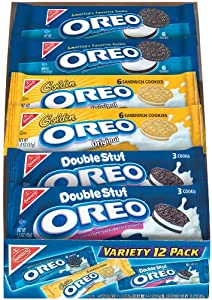 Oreo Chocolate Sandwich Cookies Variety Pack, 12-Count , 21.2-Ounce Boxes (Pack of 2)