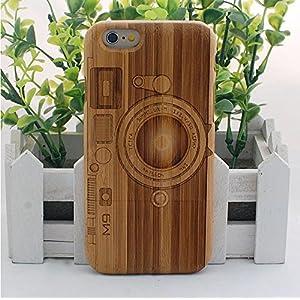 天然木製・iphone6 ケース・天然木・上下二分式・傷防止用フェルトあり・カメラ柄・M9・iphone6 カバー・人気・ウッド・木製・iphone6 case・WOOD・おすすめ・アイフォン6 ケース・アイフォン6 カバー・タケ・竹製・Dark Bamboo