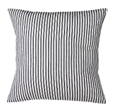 Pillow Covers Throw Pillows Ticking Stripe Couch Pillows Patio Cushions 18 x 18 Square Pillow Cover Cotton Canvas Black & White