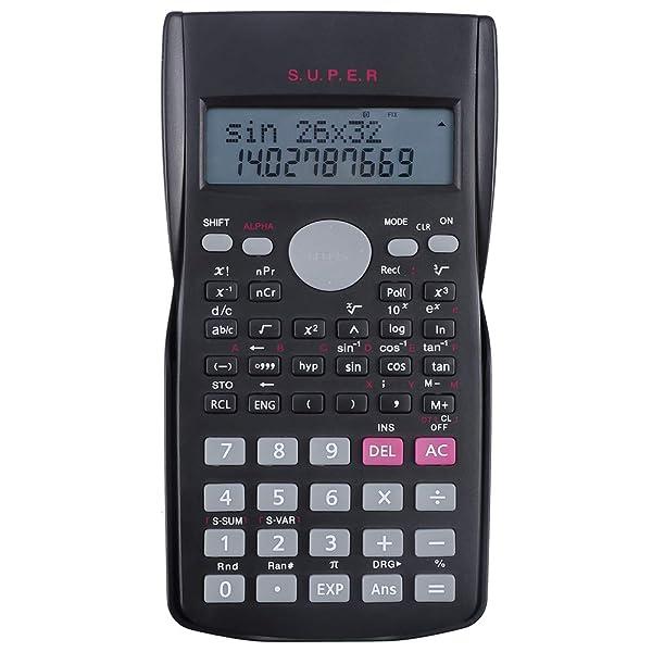 Hautoco Scientific Calculator 2 Line Multifunctional Calculator- 12 Digits Display- 240 Functions- Replay Function for High School University College