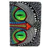 iPad 2/3/4 Case,Vogue shop Colorful Wallet Design Magnetic PU Leather stand Case Smart Cover For Apple iPad 2, iPad 3(the new iPad) , iPad 4th Generation (NOT fit for iPad Air ipad 5) (Wake/Sleep Function)+ Screen protector with Built-in Stand and Front/Back Protection[Stand Feature Card Slot ]iPad 2/3/4 Cover ,Folio Leather Smart Cover iPad Case(Latest Version with Built-In Magnet),iPad 2 3 4 Full Body Hybrid Protective Case [with Credit Card cards& Cash slots] with one vogue random stylus (Vogue Shop-OWL)