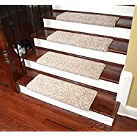 Dean Modern DIY Peel & Stick Bullnose Wraparound Non-Skid Carpet Stair Treads/Runner Rugs - Westin Fleck 30