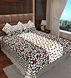 Home Candy Cotton Double Bedsheet with 2 Pillow Covers - Multicolor