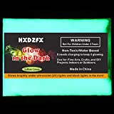 HXDZFX Glow in The Dark Pigment Powder 2 Pack 0.53oz UV Powder Safe Non-Toxic for Slime,Nails,Epoxy Resin,Acrylic Paint,Halloween,Fine Art and DIY Crafts (Yellow-Green) (Color: Yellow-Green)