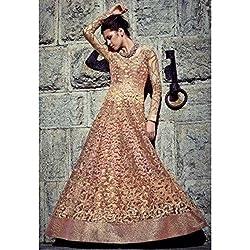 Ealegant Light Pink Colored Embroidered Anarkali Suit