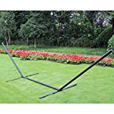 Prime Garden® Heavy Duty 15 feet Steel Hammock Stand accommodates all spreader bar hammocks measuring 12' to 13'