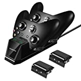 Xbox One Controller Charger with 2X 1500mAh Rechargeable Battery Packs Dual Xbox Controller Charging Station for Xbox One/One S/One X/Controller (Color: Upgraded Version)