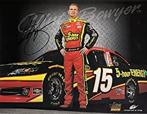 Buy 2013 Clint Bowyer #15 (5-Hour Energy) Waltrip Racing 7X9 Hero Card *AUTOGRAPHED* by Trackside Autographs