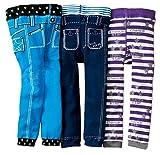 [backbuy] 3pantalones 0-3Años Bebé Boys infantil Leggings pantalones punto pantalones PJ1 Talla:12-18 meses