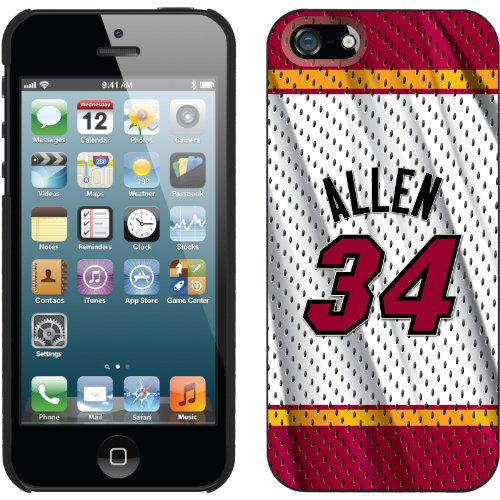 Best Price Ray Allen - Home Jersey Back design on a Black iPhone 5s / 5 Thinshield Snap-On Case by Coveroo
