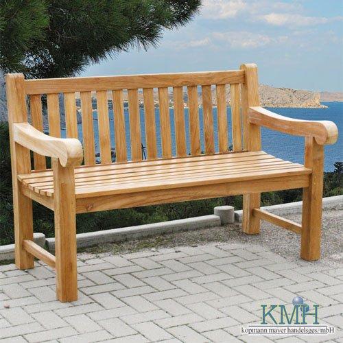 kmh 4 sitzer gartenbank echt teak 102063 chamyle. Black Bedroom Furniture Sets. Home Design Ideas
