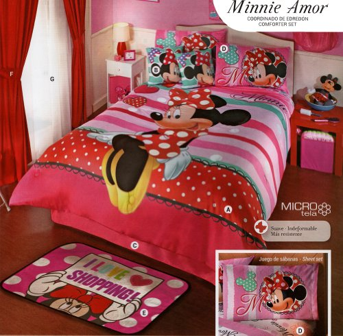 Comforter Set - Minnie Amor - Mat - Full