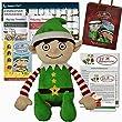 Elf Adventures Boy Elf Soft Toy Gift Set - Activity Book, Reward Chart, Letter from Santa for Elf on the Shelf