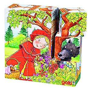 Amazon.com: Goki Robust Fairy Tale Cube Puzzle: Toys & Games