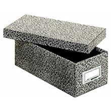 Globe-Weis Fiberboard Index Card Storage Box, 3 x 5 Inches, Black Agate (93 BLA)