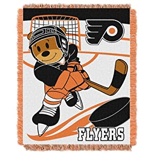 NHL Philadelphia Flyers Score Woven Jacquard Baby Throw Blanket, 36x46-Inch by Northwest