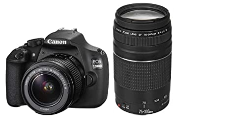 Canon EOS 1200D / Rebel T5 / EOS KISS X70  18-55 / 3.5-5.6 EF-S III  75-300 / 4.0-5.6 EF III USM Appareils Photo Numériques 18.7 Mpix