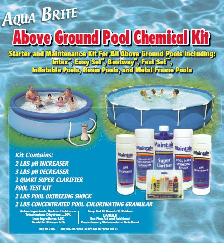 Above Ground Pool Chemical Kit For Intex, Bestway and All Above Ground