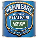 Hammerite Hammered Direct To Rust Metal Paint Dark Green 2.5L - 5084834
