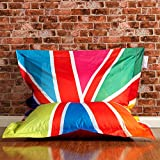 ICON Designer Limited Edition Colourful Union Jack Bazaar Bag® Bean Bags - Indoor/Outdoor London Bean Bags