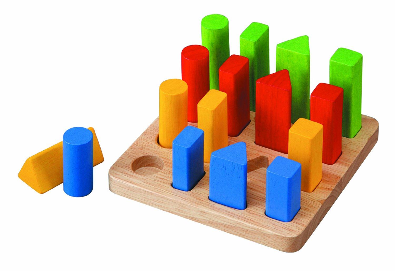 Board Games Toy : Plan toy geometric peg board new free shipping ebay