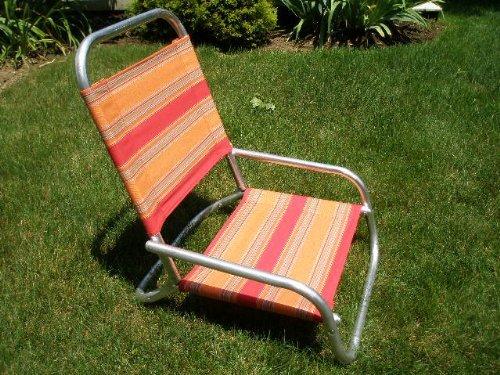 Sun And Sand Chair Finish: Aluminum, Color: Salsa